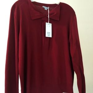 COS red sweater with collar